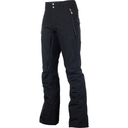 Snowboard The Volcom V-Bird Gore-Tex Pant offers top-shelf waterproofing to keep you dry in any condition from Sierra cement to a full-on rainstorm. A modern articulated fit offers a slimmer look than traditional snowboard pants, without being ridiculously tight or compromising motion. - $144.98