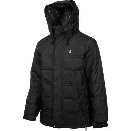 Surf The Volcom Men's Puff Puff Give Tech Down Jacket isn't stingy with the warmth. Toasty, 600-fill down insulation traps heat while V-Science moisture protection keeps you dry. This fully insulated jacket keeps cold weather out so you won't feel the chill even during frigid night sessions. - $149.98