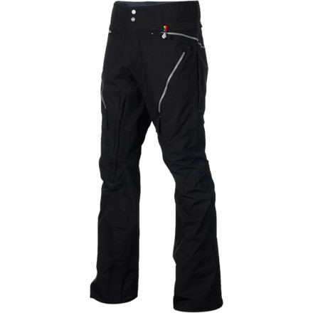 Snowboard The Volcom Blackout Pant provides all-season protection with a modern, articulated fit that doesn't make you look lie you're wearing a sack. Zippered vents crank up the airflow so you can ride all day without overheating, and the jacket-to-pant interface lets you zip into a Volcom shell for total storm protection. - $143.97