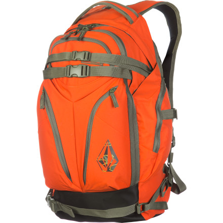 Snowboard The Volcom LBD Heli Backpack is ready to take on the backcountry as soon as you are. With tons of reinforcement and tons of easy-access gear and safety equipment pocket, the LBD Heli will keep you organized in the backcountry for years to come. - $90.97