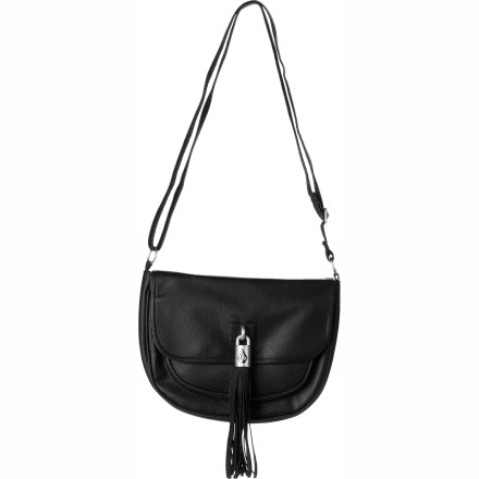 Entertainment Whether you're about to leave the house for dinner, the bar, or a show, stash what you need for an evening of fun into the Volcom Women's Shake Your Tassel Crossbody Purse. - $23.70
