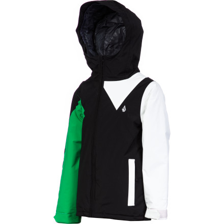 Snowboard The Volcom Boys' Insulated Impact Jacket mixes all-around weather protection with 100g insulation to keep him dry and warm while he perfects his carving skills on the groomers and ventures into the pipe. All he has to is zip up and go, and this insulated jacket will take care of the rest. - $48.98