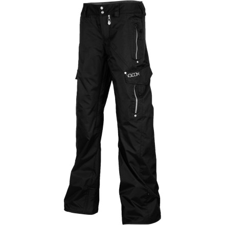 Snowboard The Volcom Wild Insulated Snowboard Pant's natural habitats include pow-filled glades, early-morning cruiser laps, and sunny parks. Midweight allover insulation keeps the winter chill away without forcing you to wear bulky layers, and the removable, adjustable knee pads offer a little extra protection against toeside edge catches or icy jump landings. - $109.97