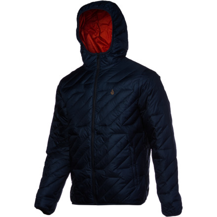 Ski The Volcom Hooded Puff Puff Jacket is packing as much style as it is natural duck down insulation. Wear it under a shell to take the edge off a super-cold day of skiing and ditch the shell for apres at the pub. This jacket does it all. - $95.97