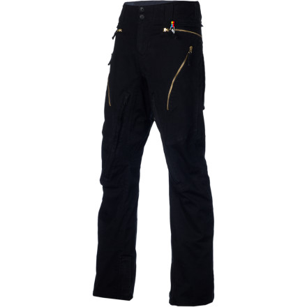 Snowboard The Volcom Weft VBJ Jean is the riding pant with the completely casual look. Let everyone else look like geeks from an '80s ski flick. The Weft VBJ makes it look like you're chilling at the bar with a beer in your hand while you're still in the park throwing big airs. - $139.98