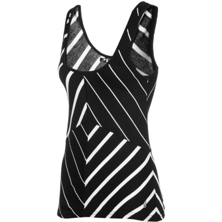 Surf Slip on the Volcom Women's Sugarhill Striped Tank Top, slide into your jeans, and toss on a blazer to finish off your appearance when you need a fresh look for your job interview or casual holiday party. - $28.76