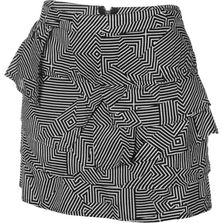 Surf The Volcom Whirlpool Skirt serves the sassy short excitement of a miniskirt with a side of innocent, sweet ruffles. It's a schoolgirl-esque look that works like a charm whether you're shaking it on the dance floor or returning your library books. - $15.78
