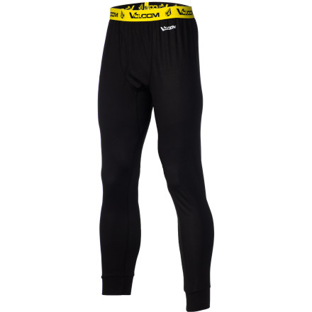 Surf Keep your boys safe and warm in the Volcom Stock Hunter Riding Pant. The wicking fabric pulls moisture away from your skin to keep you comfortable, and flatlock stitching is smooth to reduce chafing. - $29.98