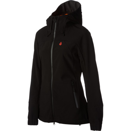 Camp and Hike The Volcom Women's Scarlet Softshell Jacket is versatile enough to handle your wide range of awesomeness. Whether you're packing in a bit of shoulder season shredding, hiking above the tree line, or just walking down to the grocery store, this jacket keeps you feeling good. - $59.98