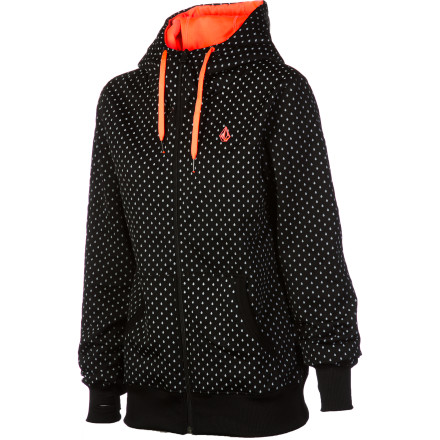 Surf Volcom Stone Dot Fleece Full-Zip Hoodie - Women's - $41.22