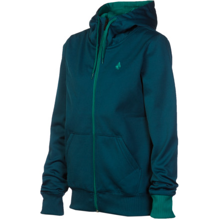 Surf Volcom Carpel Fleece Full-Zip Hoodie - Women's - $32.97