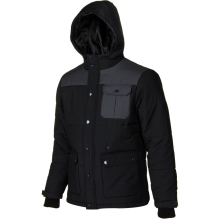 Surf Guard against winter's worst attacks with the heavyweight Volcom Hodge Podge Jacket.240 grams of synthetic Polyfill insulation keeps the heat close to your body so you can brave the tough stuff and make it look easy. - $52.48