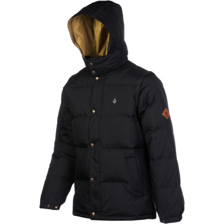 Surf The Volcom Men's Dabbling Jacket gives you the look and feel of a hardcore outerwear puffy so you'll stay warm and get the ready-for-adventure look you're known for. Plus, the warm down insulation down doesn't just look coolit traps body heat to keep you warm on winter adventures of the urban variety. - $119.97