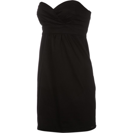 Entertainment Shimmy into the Volcom Women's Frochickie Dress and decide if you feel like wearing this figure-flattering dress with or without straps, either way, the sassy style of this dress will likely land a few free drinks when your posse heads to the bar. - $27.20