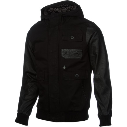 Surf Rev your motorcycle and peel through that red light in your Volcom Men's Disclose Jacket. Even if you get pulled over and booked for riding like a crazy person, you'll still look good for your mug shot thanks to the sleek look of this jacket. - $77.67