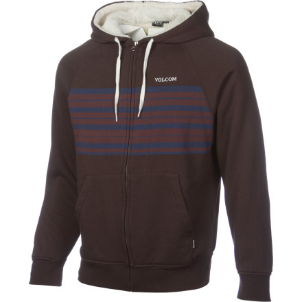 Surf The Volcom Totes Hoody is lined with 280 grams of soft sherpa lining for incredible warmth with a casual hoody look. Head out into the cold and make it look easy. - $59.96