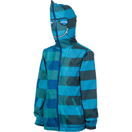 Surf Being warm is important, but when he's fighting his way through the daily battle that is school, he's going to need to look cool, too. The Volcom Boys' Sonrisa Jacket dishes out solid protection from chilly, breezyweather while making sure that your kid looks cool enough to pass inspection. - $35.67