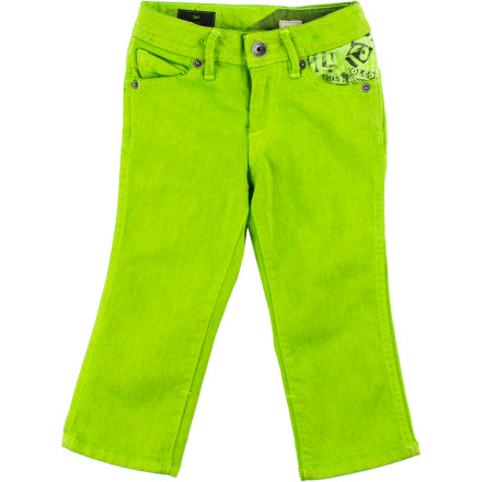 Surf The Volcom Little Boys' 2x4 Yo Gabba Gabba Denim Pant  gives your mini-man the style he'll need to rock playgroups and preschool classes. A great fit, play-in fabric, and bold looks get him ready for the school year. - $19.49
