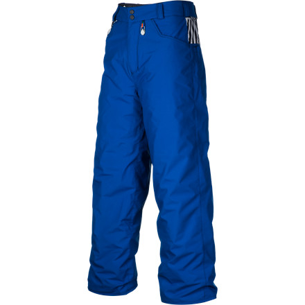 Snowboard Set your kid loose to roam the far corners of the mountain in the Volcom Boys' Discover Insulated Pant. Water-resistant fabric and plenty of insulation keeps him comfortable as he builds jumps in the trees and when he gets stuck at the bottom of roped-off areas. - $49.48