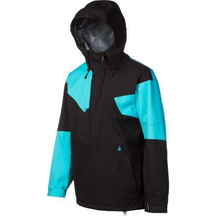 Snowboard Layer under the Volcom Tenth Jacket for all-season riding comfort and total storm protection. The Tenth Jacket's 15K waterproofing and 15,000 g/m breathability will keep you dry in any storm short of a full-blown downpour without that nasty clammy feeling that a lot of waterproof jackets give you. Volcom also built two-way stretch into the Tenth, along with zippered, mesh-lined vents, and the V-Science breathable lining system for absolute comfort while you ride. - $112.48