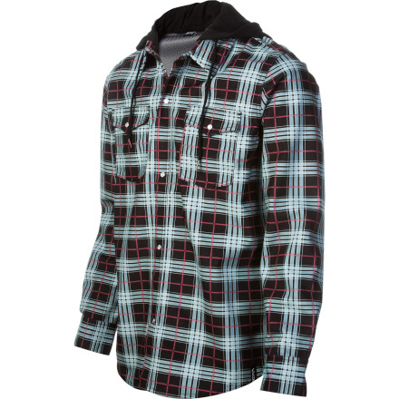 Surf The Volcom Redding Long-Sleeve Flannel Shirt throws out a laid-back look and just enough protection from the weather to keep you dry when you're squeezing the last few days out of your shred season. - $56.97