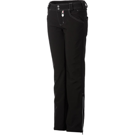 Snowboard Your girl's disturbing tendency to wear T-shirts and flip-flops in the middle of winter has led to many a battle, but when it comes to hitting the mountain you can both agree on the Volcom Girls' Bits Stretch Skinny Pant. This shred-ready pant is plenty weather-resistant, but has the look and fit of a fashionable pair of jeans what more could she want - $77.97