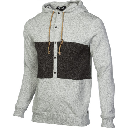 Surf The Volcom Men's Undertone Sweater brings a cool, modern vibe to your look without interfering with your ongoing goal to never wear anything uncomfortable. Rock this pullover hoodie whenever you need to look good, but you don't want to feel dressed up. - $40.17