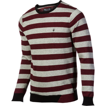 Surf The Volcom Men's Othercircle Sweater gives you a clean, casual look that will get in to pretty much any classy restaurant you can afford. But this pullover is so comfortable, your inner slob will still feel like he's on the couch sipping beer and happily sprinkling himself with potato chip crumbs. - $32.97