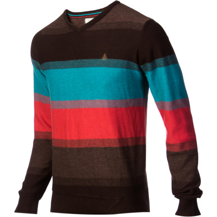 Surf Wearing the Volcom Standard Stripe Sweater will make people like you more. That's because  currently you keep insisting on wearing that frat party T-shirt declaring you the winner of the 'most-times-vomiting-in-a-single-weekend' award. Sometimes, winning isn't everything. - $32.97
