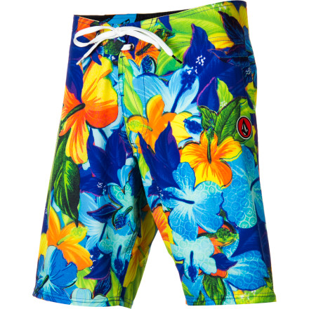 Surf The Volcom Men's Floral Fun Board Short wins the ladies over with its chill fit and tropical-inspired graphics. Plus, if you have a casual beach-style wedding to go to, you can always sport these babies and match the brides floral arrangement (that is, if she goes the tropical route). - $35.67