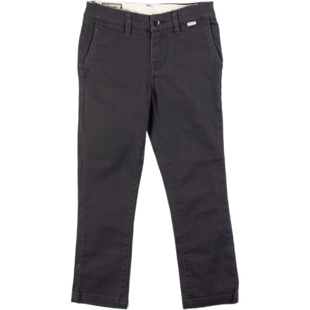 Surf The Volcom Little Boys' 2x4 Chino Pants give your little man a big-man look so he can bring his swag to the playground in full force. - $17.98