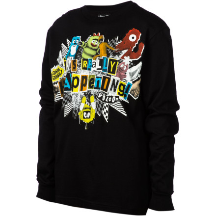 Surf Volcom YGG Happening T-Shirt - Long-Sleeve - Boys' - $11.78