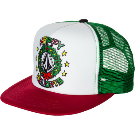 Surf Volcom Holidays Trucker Hat - $11.23