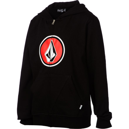 Surf Volcom Pure Fun Full-Zip Hoodie - Boys' - $29.97