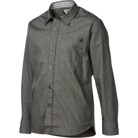 Surf Volcom Ex Factor Solid Shirt - Long-Sleeve - Boys' - $17.75