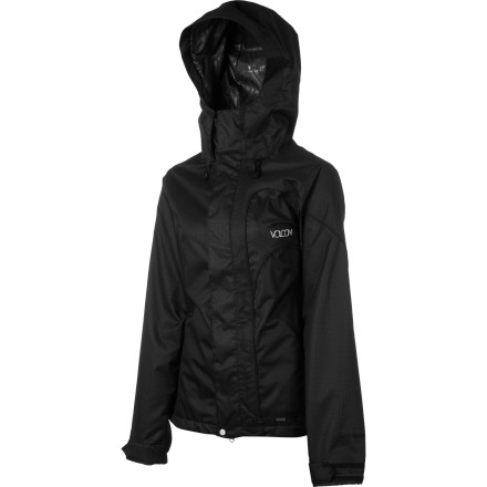 Snowboard The Volcom Women's Aspera Jacket gives you a clean, balanced look and enough protection from winter precip to keep you on the mountain all day. If big storms roll in, you won't worry about getting wet, but can just focus on enjoying the powder. - $114.98