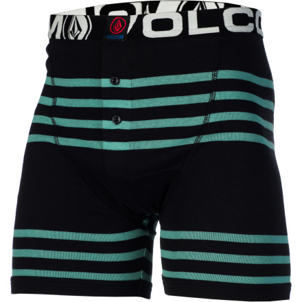 Surf Keep the family jewels safe and comfy with the Volcom Circle Square Men's Knit Boxer 2 Pack. - $35.95