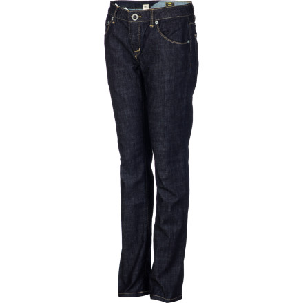 Surf The Volcom Boys' Riser Denim Pants serve up laid-back style and versatility so he can throw these jeans on with a shirt or a hoodie and be ready to go without wasting time trying to figure out what shirt goes with which pants. - $49.45