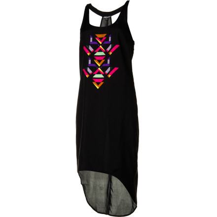Entertainment The Volcom Women's Stones In My Shoes Maxi Dress brings light and airy comfort while you navigate through a packed club to the bar. - $29.67