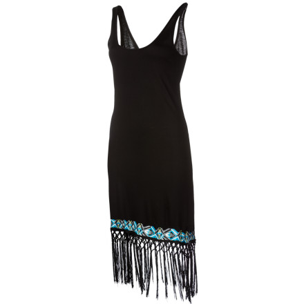 Entertainment The Volcom Women's Heart Nouveau Fringe Dress will make you want to spend the night dancing to jazz and swigging bootlegged gin. This dress is an updated Roaring '20s flapper frock, and it has the fringe to prove it. - $37.09