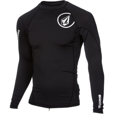 Surf Wake up early, slip on the Volcom Solid Men's Long-Sleeve Rashguard, hit the beach, and get the break all to yourself. It will keep you from getting scratched up as you paddle back out while getting wave after wave. - $34.95