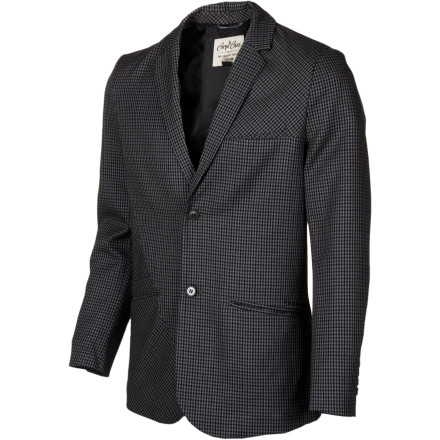Surf Before you go to work on those enticing stair sets outside of corporate HQ, don the perfect disguise with the Volcom Men's Barton Blazer. The two-button closure and welted hand pockets provide the dapper look you need to stomp your line and make like a bandit. - $59.67