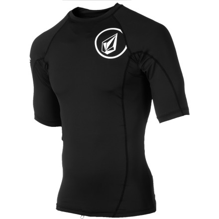 Surf Remember that time your aunt's cat clawed your chest to pieces when you tried to pet it Avoid having your chest look like that again from the sand on your board with the Volcom Solid Men's Short-Sleeve Rashguard. - $31.95