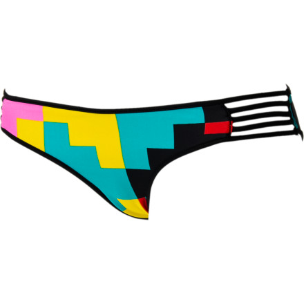 Surf Volcom Block Box Retro Bikini Bottom - $29.37