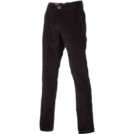 Surf The Volcom West Cord Trouser Pant features a slim-straight fit that's tailored and modern but not insanely tight. Stretch corduroy fabric ensures easy movement for effortless frontside flicks and general awesomeness. - $24.31