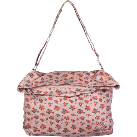 Surf Head out on a casual day about town with the Volcom Stone Stealer Women's Bag. This soft cotton bag is lightweight (unless you fill it with rocks), and it has a drawstring closure opening on the main compartment so you don't have to wrestle with a stuck zipper. - $26.97