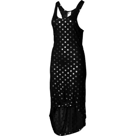 Entertainment Make your way to the tiki bar with the Volcom Women's Dada Dot Cover-Up Dress over your swimsuit and enjoy an ice-cold beverage to help you escape the heat. - $26.57