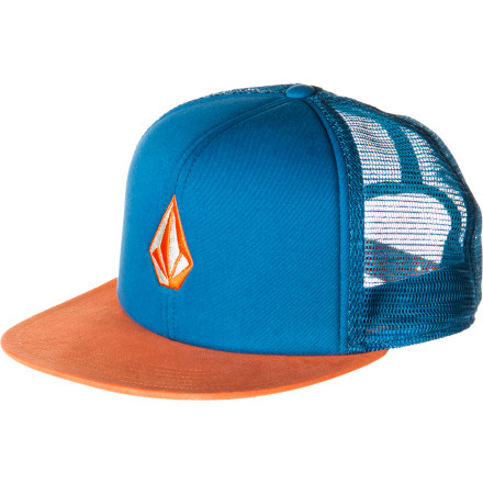 Surf Volcom Tradition Cheese Trucker Hat - $14.96