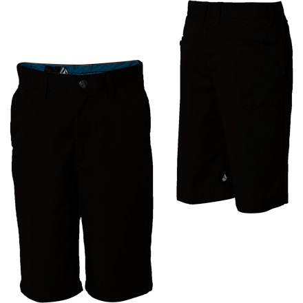 Surf Get your little ripper into the Volcom Little Boys' Frickin Too Chino Short. These shorts look good with everything, are they are super comfy. The cotton/poly blend is ultra durable so he can terrorize the yard without destroying his shorts. - $24.47