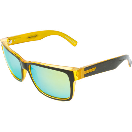 Entertainment A classic frame shape, explosive styling, and UV-blocking lenses make the Von Zipper Elmore Sunglasses the best way to decorate your face . Whether youre having an outdoor business meeting over lunch or unpacking your kite board at the beach, the slightly oversized Grilamid frame and polycarbonate lenses express your individuality and protect your eyeballs from the burning orb above. - $73.47